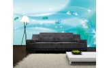 Fotobehang Vlies   Modern   Turquoise   254x184cm