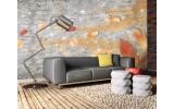 Fotobehang Vlies | Muur, Modern | Oranje | 254x184cm