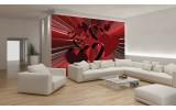 Fotobehang Vlies | 3D, Hartjes | Rood | 254x184cm