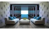 Fotobehang Vlies | 3D, Design | Blauw | 254x184cm