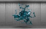 Fotobehang Vlies | 3D, Design | Turquoise | 254x184cm