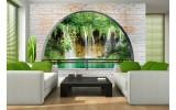 Fotobehang Vlies | Natuur, Muur | Groen | 254x184cm