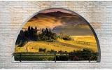 Fotobehang Vlies   Natuur, Muur   Geel   254x184cm