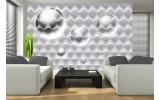 Fotobehang Vlies | 3D, Modern | Zilver | 254x184cm