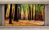Fotobehang Vlies | Bos, Natuur | Bruin | 254x184cm