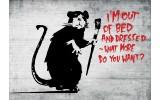 Fotobehang Vlies | Street Art | Zwart, Rood | 254x184cm