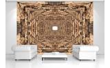 Fotobehang Vlies | 3D, Modern | Bruin | 254x184cm