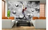 Fotobehang Vlies | 3D, Dansen | Grijs | 254x184cm