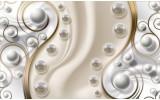 Fotobehang Vlies   Modern   Zilver, Goud   254x184cm