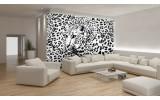 Fotobehang Vlies | Luipaard | Zwart, Wit | 254x184cm