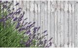 Fotobehang Vlies | Hout, Lavendel | Grijs | 254x184cm