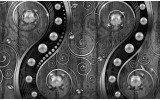 Fotobehang Vlies | Modern | Zilver, Zwart | 254x184cm