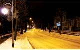 Fotobehang Vlies | Straat | Geel, Zwart | 254x184cm