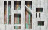 Fotobehang Vlies | Modern, Hout | Grijs | 254x184cm