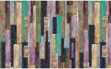 Fotobehang Vlies | Hout, Landelijk | Groen, Paars | 254x184cm