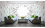 Fotobehang Vlies | Muur, 3D | Wit | 254x184cm