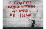 Fotobehang Papier Street Art   Grijs   254x184cm