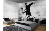 Fotobehang Vlies | Street Art | Grijs | 254x184cm