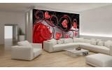 Fotobehang Vlies | Roos, Modern | Rood | 254x184cm