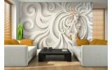 Fotobehang Vlies | 3D, Modern | Goud | 254x184cm