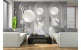 Fotobehang Vlies | 3D, Modern | Wit | 254x184cm