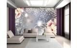 Fotobehang Vlies | Magnolia, Modern | Zilver | 254x184cm