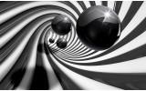Fotobehang Vlies | 3D | Zwart, Wit | 254x184cm