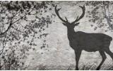 Fotobehang Vlies | Hert, Modern | Grijs | 254x184cm