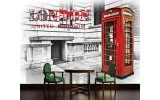 Fotobehang Vlies | England, London | Rood | 254x184cm