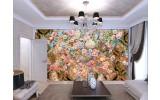 Fotobehang Vlies | Bloemen, Klassiek | Roze | 254x184cm