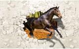 Fotobehang Vlies   Paard, Abstract   Bruin   254x184cm