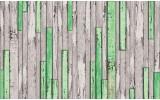 Fotobehang Vlies | Hout | Groen, Grijs | 254x184cm
