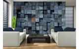 Fotobehang Vlies | Hout | Blauw | 254x184cm