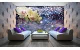Fotobehang Vlies | Orchideeën, Modern | Blauw | 254x184cm