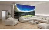 Fotobehang Vlies   Voetbalveld   Groen   254x184cm