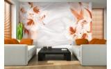 Fotobehang Vlies   Bloemen, Modern   Oranje   254x184cm