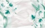 Fotobehang Vlies | Bloemen, Modern | Groen | 254x184cm