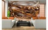 Fotobehang Vlies | 3D, Design | Bruin | 254x184cm