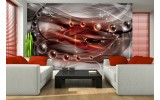 Fotobehang Vlies | 3D, Design | Rood | 254x184cm