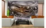 Fotobehang Vlies   3D, Design   Paars   254x184cm