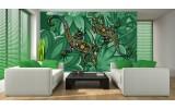 Fotobehang Vlies | Abstract | Groen | 254x184cm