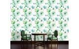 Fotobehang Vlies   Bloemen, Klassiek   Groen   254x184cm