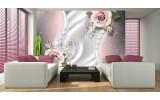 Fotobehang Vlies | Rozen, Modern | Roze | 254x184cm