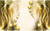 Fotobehang Vlies | Modern | Goud, Geel | 254x184cm