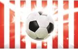 Fotobehang Papier Voetbal | Rood, Wit | 254x184cm
