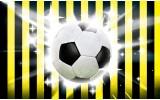 Fotobehang Papier Voetbal | Zwart, Geel | 254x184cm