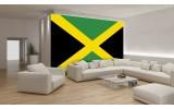 Fotobehang Papier Vlag | Groen, Zwart | 254x184cm