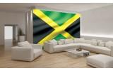 Fotobehang Papier Vlag   Zwart, Groen   254x184cm